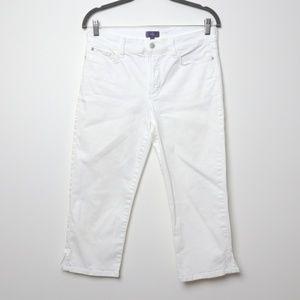 NYDJ | White Crop Jeans 8